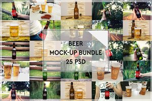 BUNDLE - 25 Beer Mock-up