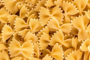 Background farfalle pasta