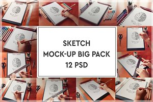 Sketch Mock-up Big Pack#1
