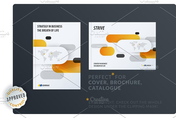 Creative Minimal Design Of Brochure Set Abstract Annual Report Horizontal Cover Flyer In A4 With Colourful Rounded Rectangles