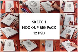 Sketch Mock-up Big Pack#2