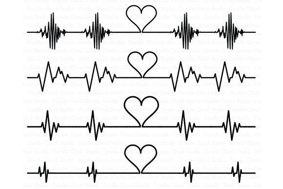 Cardio Heart SVG Heartbeat SVG File