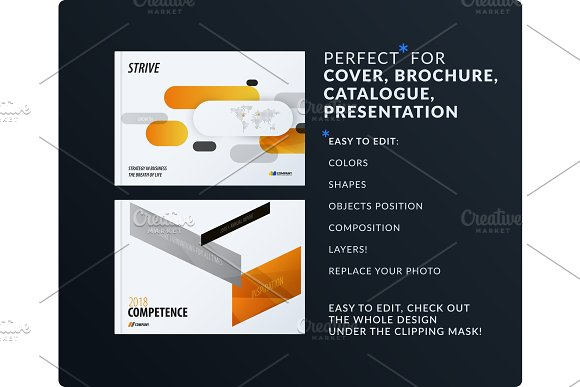 Presentation Abstract Vector Set Of Modern Horizontal Templates With Colourful Rounded Rectangles For Businessv