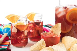 Cinco De Mayo Scene with Sangria
