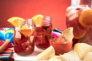 Cinco De Mayo Sangria Scene on Red