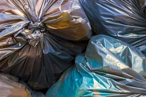 Colorfull garbage bags