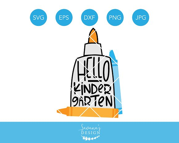 Hello Kindergarten SVG School