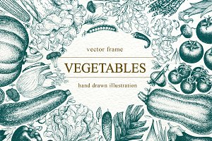 Vegetable Vector Frame