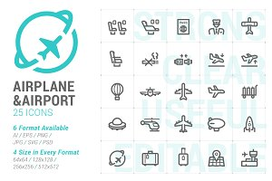 Airplane & Airport Mini Icon