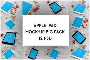Apple iPad Mock-up Big Pack#2