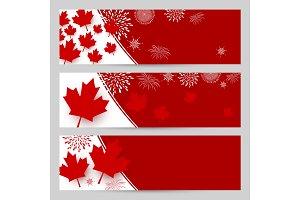 Canada day banner design