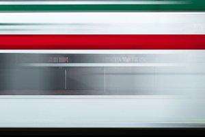 Italian train in motion blur