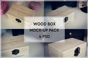 Wood Box Mock-up Pack