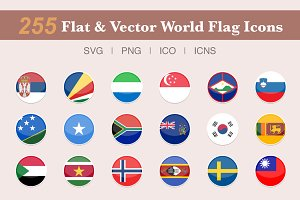 255 Flat & Vector World Flag Icons
