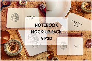 Paper Notebook Mock-up Pack#1
