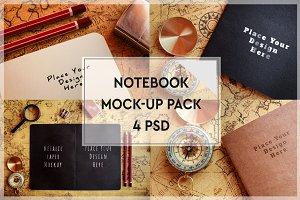 Paper Notebook Mock-up Pack#2
