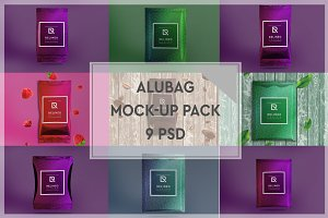 Aluminium Bag 9 PSD Mock-up Pack