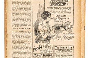 Vintage newspaper paper page