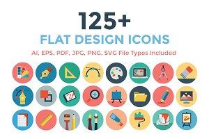125+ Flat Design Icons