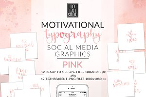 Motivational Typography - PINK
