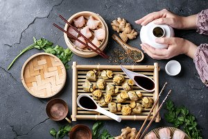 Chinese and korean dumplings