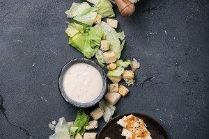 Home made caesar salad