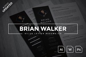 Brian Walker - A4/US Resume