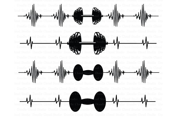 Heartbeat Weights SVG CrossFit