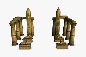 Egyptian temple elements collection