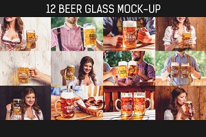 12 PSD Beer Glass Mock-up #3