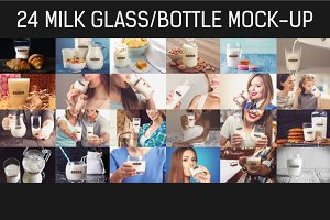 24 PSD Milk Glass/Bottle Mock-up