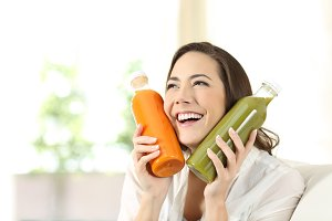 woman loving her vegetable juices