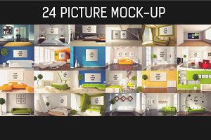 24 Picture Mock-up Bundle#2