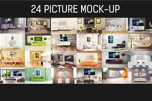 24 Picture Mock-up Bundle#3