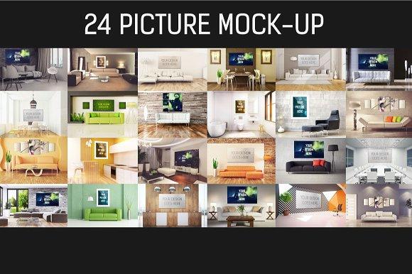 Download 24 Picture Mock-up Bundle#3