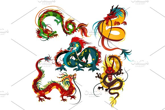 Traditional Chinese Dragon Ancient Symbol Of Asian Or China Culture Decoration For New Year Celebration Mythology Animal Vector Illustration Idea For Tattoo Design