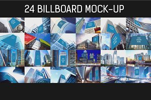 24 Billboard Mock-up Bundle