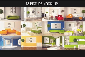 12 Picture on Wall Mock-up Pack#4