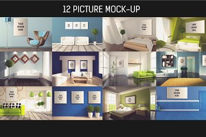 12 Picture on Wall Mock-up Pack#3