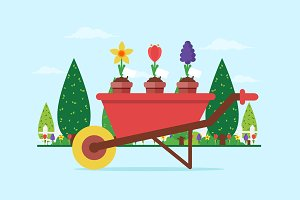 Spring Wheelbarrow