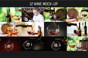 12 Wine Mock-up Pack