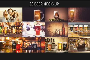 12 Beer Mock-up Pack#1