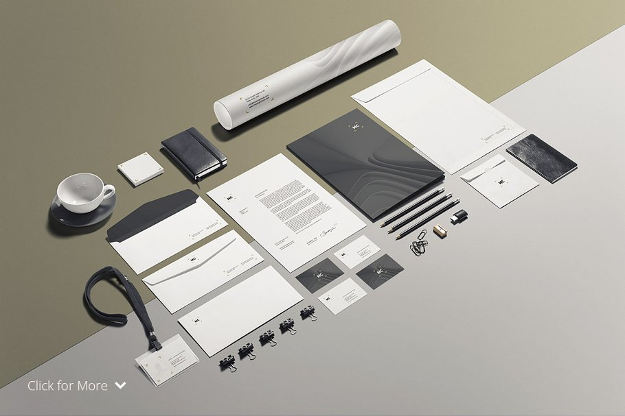 Business Stationery / Mock-Up in Product Mockups - product preview 8