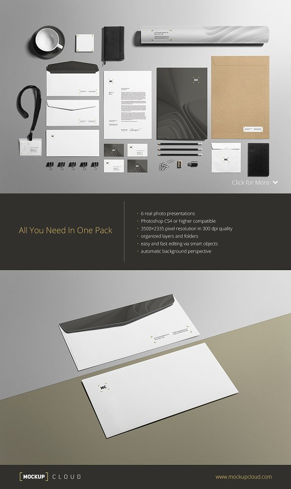 Business Stationery / Mock-Up in Product Mockups - product preview 1