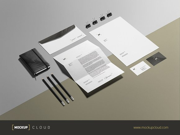 Business Stationery / Mock-Up in Product Mockups - product preview 2