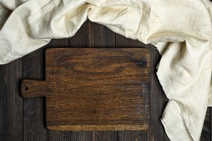 old brown wooden cutting board