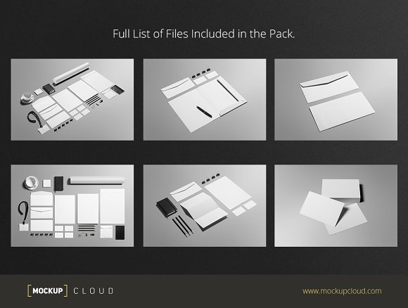 Business Stationery / Mock-Up in Product Mockups - product preview 3