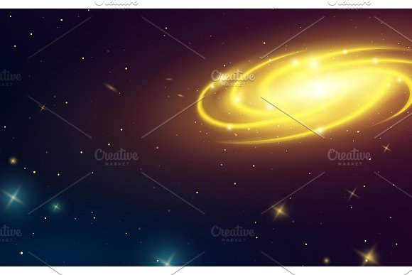 Spiral Galaxy In Space Illustration Of Milky Way Planets In Solar System Stars In The Dark Astronomical Card Background Or Neon Poster For Web Supernova Light