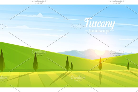 Rural Landscape Farm Agriculture Vector Illustration Poster With Meadow Countryside Retro Village For Info Graphic Websites Windmill And Hay Summer Morning Background