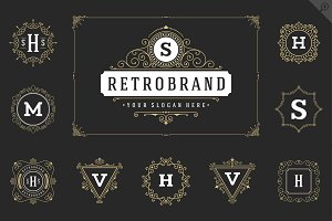 20 luxury ornaments logos & monogram